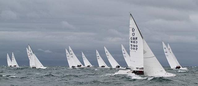 Dragons competing at South Caernarvonshire Yacht Club in Abersoch