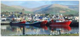 Between the mountains and the ocean. Dingle's colourful waterfront speaks volumes about the rich and complex heritage which will be celebrated at the Dingle Maritime Weekend.