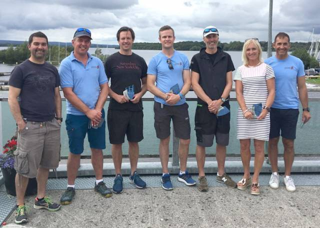 Laser Master winners at Lough Derg Yacht Club
