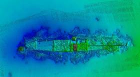 The 1903 shipwreck SS Manchester Merchant located in Dingle Bay, Co. Kerry surveyed in 2019 by INFOMAR's RV Keary