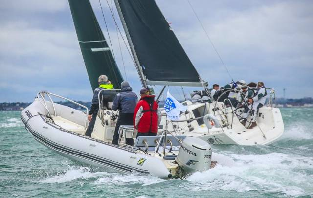 The North Sails Ireland on-the-water coaching team