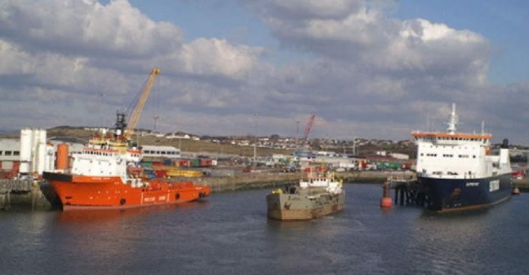 Heysham Port in Lancashire, England which has a ferry link to the Isle of Man