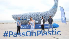 The Riptide Movement and Amanda Byram #PassOnPlastic as part of Sky Ocean Rescue's campaign