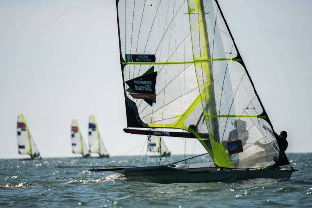 Former Olympic 49er pair Ryan Seaton and Matt McGovern sailing with Providence Team IRL ahead of Rio 2016