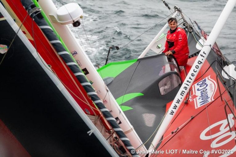 Yannick Bestaven (Maître Coq) tops the Vendee Globe Race on St. Stephen's Day