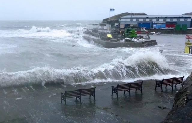Storm Lorenzo: Bulloch Harbour on Dublin Bay is located along the Dalkey coastline