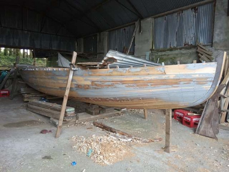 Progress on Restoring the Vintage Cork Harbour Yacht 'Lady Min' in Ballydehob