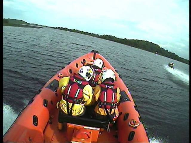 Carrybridge RNLI speeding to one of their three callouts on Upper Lough Erne this past Saturday
