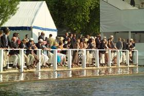 The stewards and spectators at Henley. Courtesy Henley Royal Regatta.