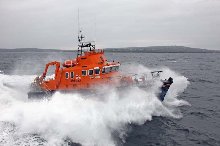 Aran Islands RNLI lifeboat was involved in the extensive Galway Bay search. The  girls were found off Inisheer