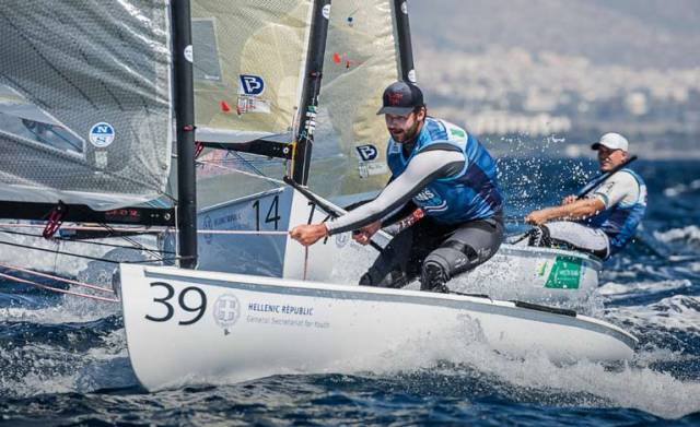 Oisin McClelland in action at the Finn Europeans in Athens this week