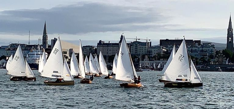 Getting their strength back. In yesterday's pet evening at the end of a classic ridge day, the Dublin Bay Water Wags had their best turnout so far in this shortened season, with 25 boats lining up for two races