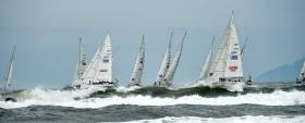 A Clipper race leg start in Vietnam