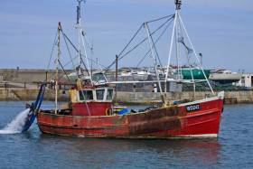 A fishing boat in Howth Harbour