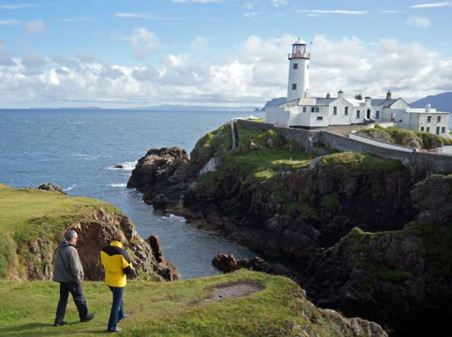Fanad Lighthouse on the stunning scenery of the Donegal coastline