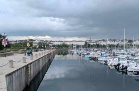 Bangor promenade beside the marina