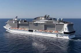 Making an impression: MSC Meraviglia, leadship of a new next-generation of 5,700 passenger capacity cruiseships. The giant cruiseship will be the largest to visit Irish waters as the vessel is scheduled to call to Dublin Port in the early hours of tomorrow, Saturday, 5 May