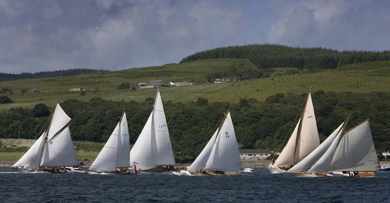 The Kyle start at the Fife Regatta