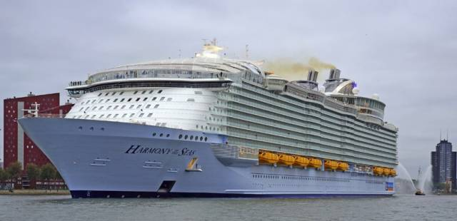 Royal Caribbean's Harmony of the Seas docked in Rotterdam earlier this year