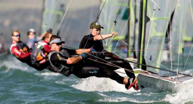 Two-handed superstars. Olympic 49er contenders Sean Waddilove and Robert Dickson (Sailors of the Year 2018) have kept themselves race ready by moving into shared accommodation as the Lockdown was introduced