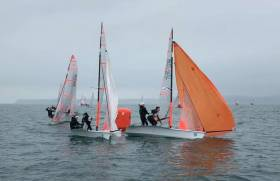 Sailing at the Harken 29er Grand Prix in Torbay this past weekend