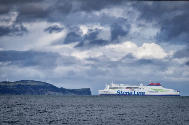 The new multi-million pound Stena Edda built in China sailed into Belfast Lough for the first time and to the port where the ropax has undergone checks for coronavirus.