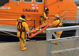 File image of Baltimore's lifeboat crew preparing for a medevac
