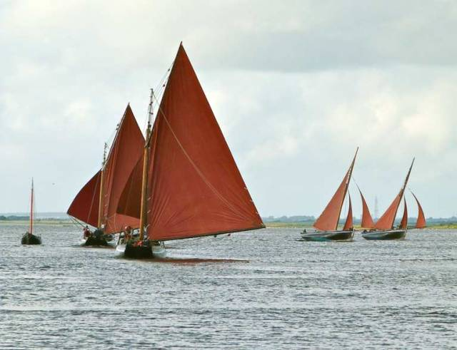 Stately workhorses of the west – the Galway Hookers showcase their highly individual style at the Cruinniu na mBad at Kinvara this weekend in a three day festival