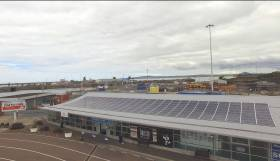 The project involved the fitting of four 50kWp Solar PV panel arrays to the roofs of terminal buildings, garage and shore shop as above