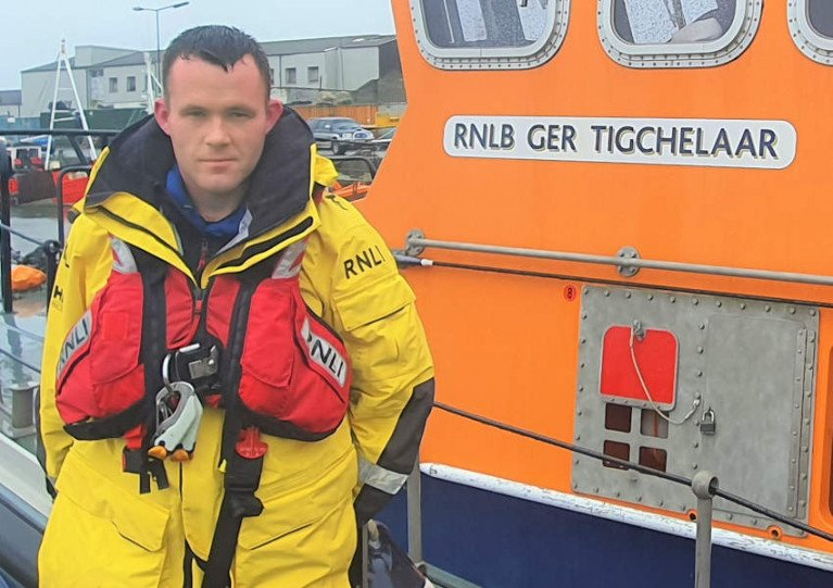 Arklow RNLI's newly appointed station mechanic James Russell