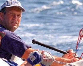 Mark Mansfield – his expression may seem impassive, but he is at his most alive and alert when racing a sailing boat