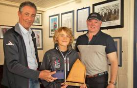 Rocco Wright, 2018's best junior Optimist sailor, was also first in the junior fleet at the Munsters last weekend