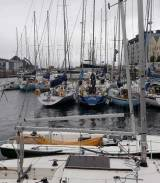 The 54-boat ICRA fleet berthed at Galway Docks
