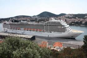 MSC Magnifica pictured in Dubrovnik