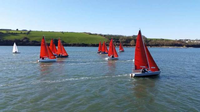 Blue skies and great breezes for Kinsale's first races of their Frostbite Series