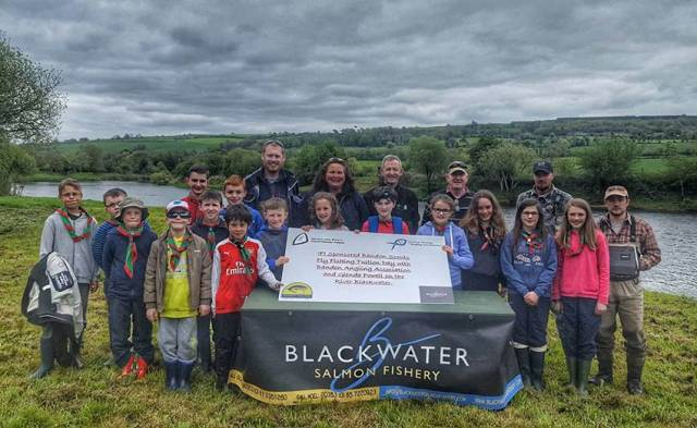 Bandon Scouts learned all about fly fishing on the River Blackwater during their recent free fishing day