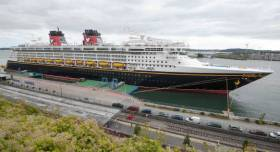 The cruiseship, Disney Magic docked in Cobh, Cork Harbour. The Five Foot Way was closed for over four hours during the ship's visit in September last year.