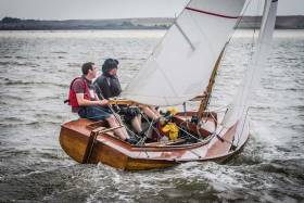 Dublin Bay Mermaid 188 'Innocence' helmed by Darragh McCormack with crew Cathal McMahon and Mark McCormack, pictured here sailing at the 2016 Mermaid Munster Championship at Foynes Yacht Club, which they won overall
