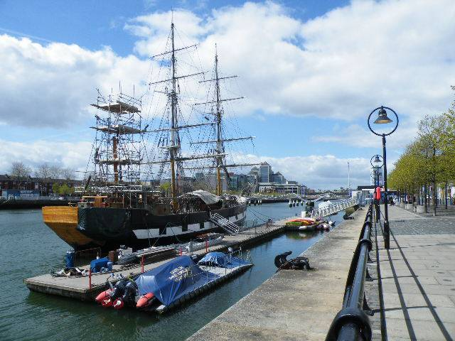 Jeanie Johnston may be relocated to a new nearby berth alongside the Epic Ireland museum along Dublin's North Wall Quays.