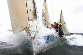The crew of Southbound take on the challenging conditions of the 2009 Dun Laoghaire to Dingle Race. The 2017 race begins on June 14