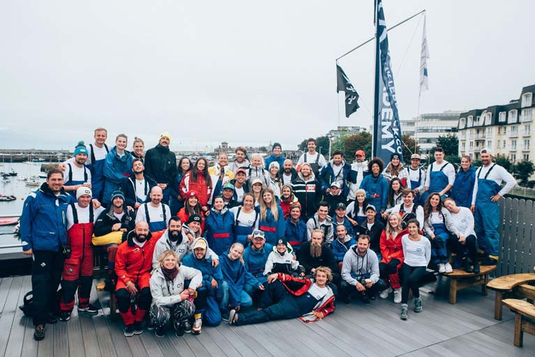 Over 60 quarterdeck graduates and international skippers who visited the Irish National Sailing School for the annual Quarterdeck Skipper Regatta in September last year