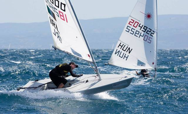 Finn Lynch racing in Croatia. In May in Mexico in a last gasp chance he took the Irish Mens Olympic place in the Laser class.