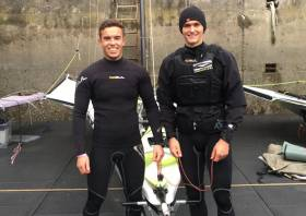 Sean Waddilove (left) and Robert Dickson are headed to NZ with fellow Team Ireland 49er pair Ryan Seaton and Seafra Guilfoyle