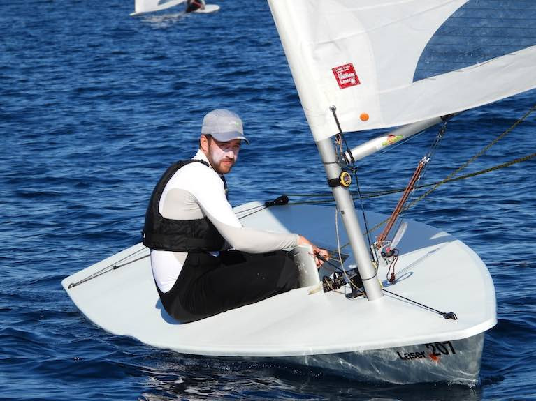 ILCA7 sailor Finn Lynch in Lanzarote