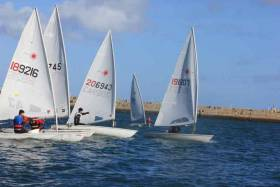 Laser racing at Dun Laoghaire