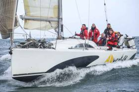 Greystones Sailing Club's Another Adventure (Daragh Cafferkey) is one of 32 ISORA boats racing to the County Wicklow port of Arklow this weekend