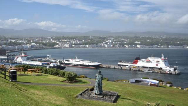 A public two-week consultation on a new agreement began today on the future services of the Isle of Man Steam Packet where above the fleet is docked in Douglas Harbour