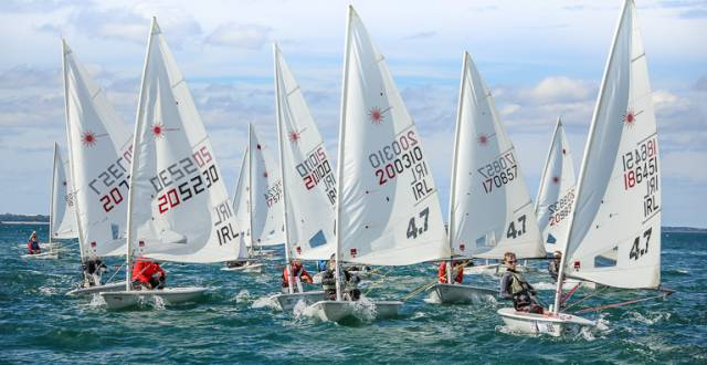 Laser dinghies are racing at Rush for Leinster honours this weekend