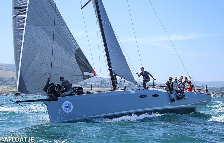 The original A13 that became Phosphorus II was built for Eric de Turckheim and sailed as Teasing Machine.  The boat competed in the 2018 Round Ireland