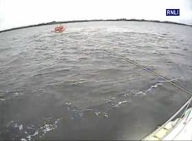 Lough Ree RNLI's lifeboat The Eric Rowse tows a grounded cruiser to safety on Saturday 27 May